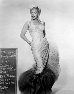 "Marilyn Monroe in costume test for ""There's No Business Like Show Business 1954."
