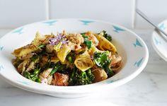 garganelli with crab + broccolini