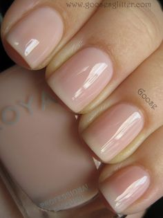 From Zoya's Peter Som 2012 NYFW collection, 'Audrey' - A pale, sheer pink jelly that has a nice glossy finish. Must have!