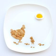 Chicken Made From Eggs | 13 Incredible Tiny Paintings Made Out Of Food