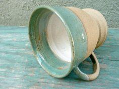 Personalized Mug Initial Mug Ceramic Mug Stoneware by jclayPottery