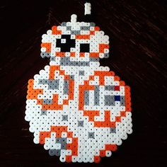 BB-8 Star Wars VII perler beads by lizdejesus23
