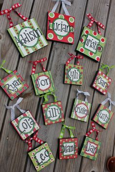 Christmas Canvas Ornaments - could also use tiles (like the coaster craft) Winter Christmas, All Things Christmas, Christmas Holidays, Christmas Decorations, Christmas Ornaments For Students, Class Christmas Gifts, Preppy Christmas, Merry Christmas, Paper Christmas Ornaments