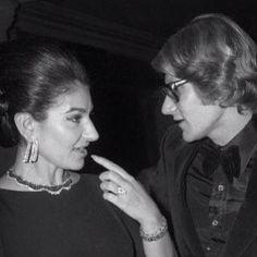 Maria Callas et Yves Saint Laurent  #élégance
