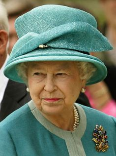 Queen Elizabeth visiting Jamestown, Virginia for the 400th anniversary of the founding of Jamestown in 2007.
