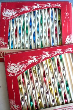 Vintage Christmas icicles