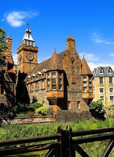 Water of Leith Village, Edinburgh, Scotland. The area remained a separate village from Edinburgh until In 1826, John Learmonth, a future Lord Provost of Edinburgh, purchased the Dean Estate from the Nisbets of Dean.  Due to the development of much larger and more modern flour mills at Leith, Dean Village's trade diminished.  For many years, the village became associated with decay and poverty around 1960.  Redevelopment and restoration began in the mid-1970s onwards. Photo…