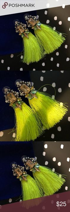 Happy Yellow Tassel Earring Yellow tassel and jewel earrings new with tags  These go well with just about anything easy to dress up or down and sure to garner compliments.  Free gift with every purchase  Bundle for A private offer Gracie Stone Jewelry Earrings