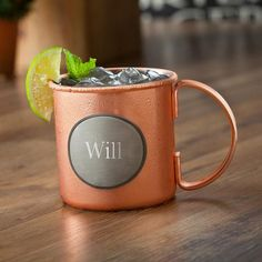 Personalized Moscow Mule Copper Mug – 16 oz Stainless Steel Mug with Copper Plating