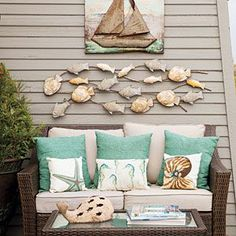 pinterst beach porches | Holiday Style at the Beach | Porches, Decks, Sunrooms