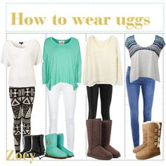 Legging Outfits with Uggs | fashion look from December 2012 featuring A Postcard From Brighton ...