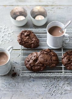 Nigella Lawson's cookies are gluten-free with a nutty flavour and unique texture, creating a cookie that has softness and a shortbready bite, as well as a subtle smokiness