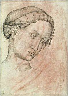 Pisanello - Codex Vallardi 2589 v; Renaissance Hairstyles, Italian Renaissance Art, Giovanni Bellini, Giorgio Vasari, Fra Angelico, Italian Painters, Hair Treatments, 14th Century, African Art