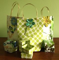 Handmade Paper Gift Bags & Boxes by csich on Etsy. $12.00, via Etsy.