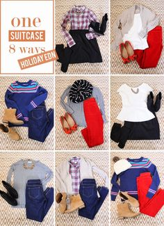in residence: mix & match suitcase, holiday edition - Capsule Wardrobe - Travel Tips - Packing