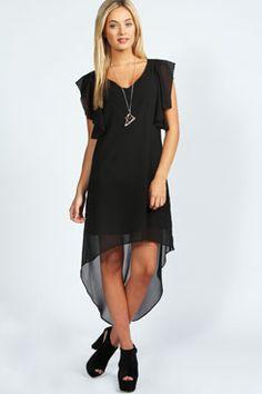 Rosie Dip Back Chiffon Dress