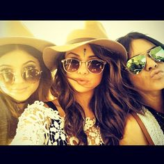 Kylie Jenner, Selena Gomez & Kendall Jenner from 2014 Coachella Star Twitpics and Instagram Snapshots | E! Online