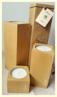 Drevený svietnik - Lzuz Vyrobený z masívu /dub/, moridlo dub + lak cena výrobku /komplet/: 15,80 EUR + poštovné