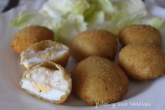 Huevos a la villeroy Bechamel, Carne Asada, Boiled Eggs, Pretzel Bites, Crepes, Tapas, Baked Potato, Appetizers, Potatoes
