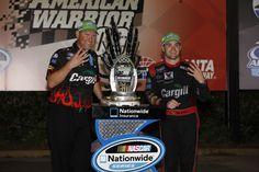 Grabbing that NASCAR Nationwide Trophy at Atlanta!