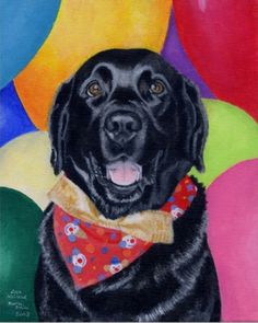 Birthday Black Labrador Art Print