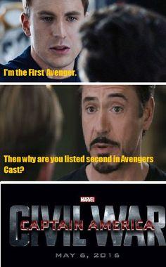 Movie   Marvel   Avengers   Civil War   Robert Downey Jr.   Chris Evans   Tony Stark   Iron Man   Steve Rogers   Captain America