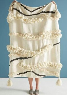 Anthropologie Textured Outre Throw Blanket Gift by Anthropologie in Cream, Throws $128.00 $79.95