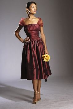 flyingbrides.com Offers High Quality Fresh A-Line Off-the-shoulder Tea-length Taffeta Homecoming Dress,Priced At Only US$148.00 (Free Shipping)