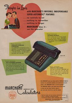 They're in love! #vintage #office #1950s #typewriter #ads