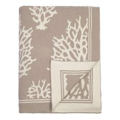 The Beige Reef Reversible Patterned Throw | Bedroom inspiration and bedding decor | www.craneandcanopy.com