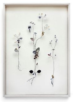 These incred­i­ble Flower Constructions were cre­ated by Anne ten Donkelaar:    Fantasy Herbaria, filled with pressed paper, with dried plants and leaves, with irreg­u­lar shapes and sophis­ti­cated twists. New frag­ile flow­ers that grow on islands where no one has ever been, new detailed land­scapes that are lifted so you can walk through it. Weeds become poetry, each unique twig gets atten­tion, nature seems to float.