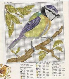 cross stitch bird