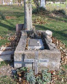 Chief Black Hawk.  American Sauk Indian Leader.  Iowaville Cemetery, Selma, Iowa.  Find A Grave