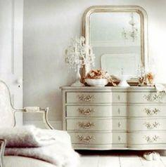 french provincial, bedroom lamps, dresser, distressed furniture, bedroom furniture