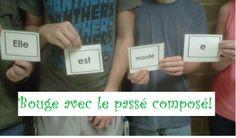 Bouge avec le passé composé!  A game where students race to recreate the past tense sentences!