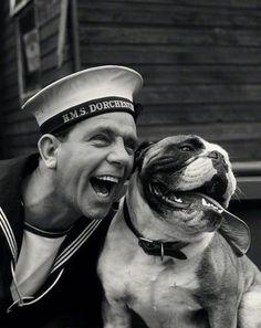 National Portrait Gallery - Large Image - NPG Sir Norman Wisdom as Norman Puckle in 'The Bulldog Breed' Norman Wisdom, Bulldog Pics, Comedy Actors, Vintage Sailor, Bulldog Breeds, British Bulldog, Dog Years, National Portrait Gallery, Vintage Dog
