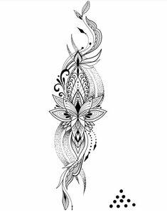 tattoos - 35 Ideas For Awesome Tattoo Designs Mädchen Tattoo, Tattoo Style, Lotus Tattoo, Cover Tattoo, Back Tattoo, Spine Tattoos, Full Sleeve Tattoos, Body Art Tattoos, Cool Tattoos
