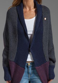 inspiration re; style and colour -- not pattern available  Shrug Knit Sweater