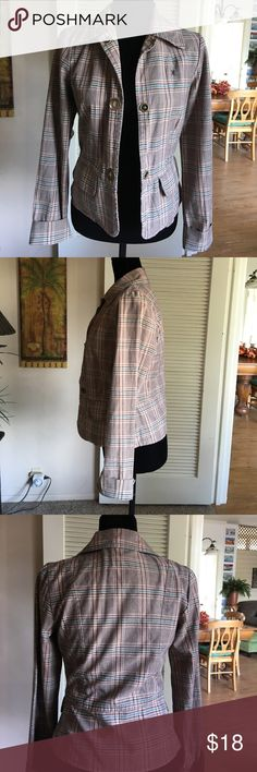 Hurley plaid blazer. Sz. small Adorable Hurley plaid blazer. Size small. Jackets & Coats Blazers