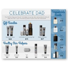 Mary Kay Father's Day Flier! Share with your customers! Find it at www.thepinkbubble.co!