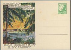 Germany, German Empire, Deutsches Reich 1937, 5 Pfg.-GA-Privatpostkarte von der Kolonial-Briefmarken-Schau Berlin-Pankow, ungebraucht (Mi.-Nr.PP142C8). Price Estimate (8/2016): 10 EUR. Unsold.