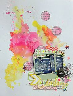 #papercraft #scrapbook #layout    Blog party - Festival du conte