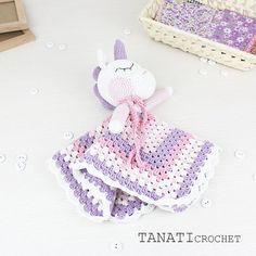 Blanket Unicorn Sweet Pattern Security Blanket Crochet