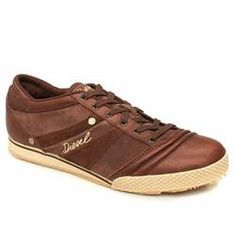 Diesel Male Full-Time Leather Upper in Brown DIESEL Full-Time Rock that retro look Full Time with this sweet new style from Diesel. Leather upper in a casual sneaker style with a round toe. Fine stitching detail with lace up front and multiple o http://www.comparestoreprices.co.uk/trainers/diesel-male-full-time-leather-upper-in-brown.asp