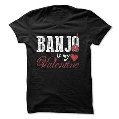 My Valentine Banjo T-shirt - #coworker gift #thank you gift. OBTAIN => https://www.sunfrog.com/Funny/My-Valentine-Banjo-T-shirt.html?68278