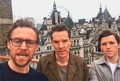 My three favorite British People!!!  Tom Hiddleston, Benedict Cumberbatch, Tom Holland