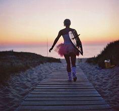 Surfing Ballerina...