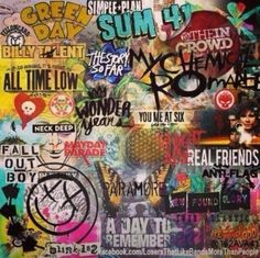 Pop punk bands<<<no no no no most of these are just punk rock or some hard rock. Pop Punk Bands, Emo Bands, Music Bands, Arctic Monkeys, Paramore, Music Is Life, My Music, Hello Music, Music Heart