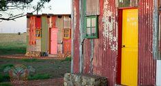 Shanty town team building accommodation at Emoya in Bloemfontein