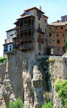 Hanging Houses of Cuenca, Spain...don't think I could live in one of these but...would love to see them...